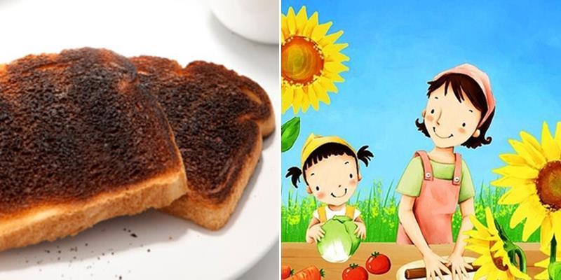 Vị ngon  tuyệt vời của ổ bánh mì cháy khét