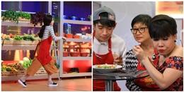 """Việt Hương """"nhắm tịt mắt"""" thưởng thức món ăn của Angela Phương Trinh"""