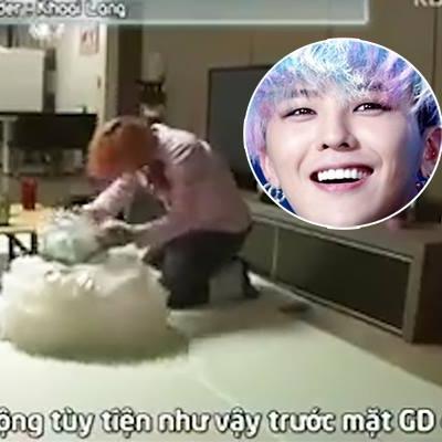 G-Dragon ngượng đỏ mặt khi chứng kiến bé gái thay đồ trước mặt