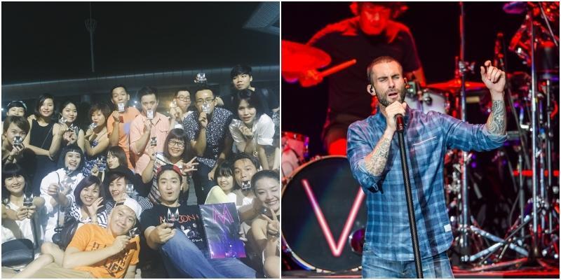 """Fan Việt phát cuồng, """"gây bão"""" vì Maroon 5 ở Thái Lan"""