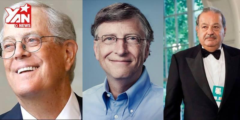 Chóng mặt với độ giàu có của 10 người thành đạt nhất thế giới 2015