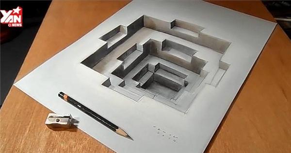 Tròn mắt với hình vẽ 3D hết sức