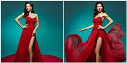 Lệ Quyên chọn sắc đỏ cho đêm chung kết Miss Grand International 2015