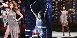'Chiến binh' Thanh Hằng làm vedette, catwalk quyền lực trong ELLE Fashion Show 2015