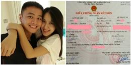Văn Anh – Tú Vi hồi hộp kí tên vào giấy chứng nhận kết hôn