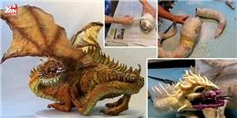 Bạn có tin được chú rồng này hoàn toàn được làm bằng giấy?