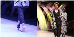 Mặc giày rơi, mẫu nữ vẫn di chuyển hết 80 mét sàn catwalk
