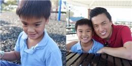 Lam Trường thân thiết với con trai ở Mỹ