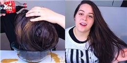 Choáng với cô gái gội đầu và tạo kiểu tóc bằng nước ngọt