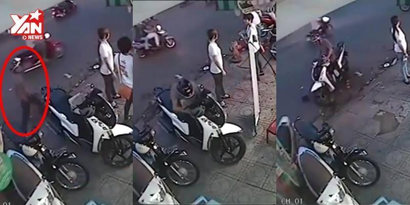 Qua mặt 3 nhân viên, trộm lấy cắp xe tay ga chỉ trong một phút