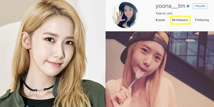 Yoona lập kỉ lục được 1 triệu lượt theo dõi nhanh nhất Instagram