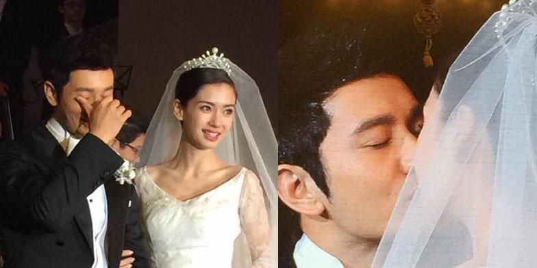 Huỳnh Hiểu Minh khóc trong tiệc cưới cổ tích với AngelaBaby