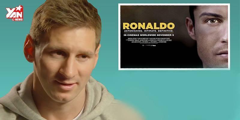 "Phản ứng cực ""thốn"" của Lionel Messi khi xem trailer phim của Cristiano Ronaldo"