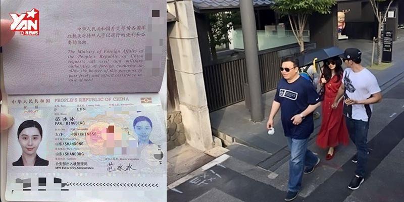 Phạm Băng Băng đánh rơi giấy tờ khi đi nghỉ dưỡng tại Nhật