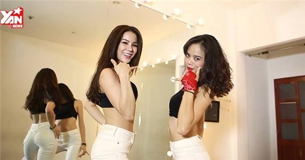 Bộ đôi Diệp Lâm Anh - Thu Hiền tung clip vũ đạo cực nóng bỏng