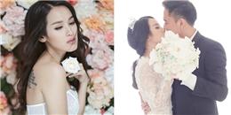 Tú Vi lộ hình xăm 'độc' trong bộ ảnh cưới cùng Văn Anh