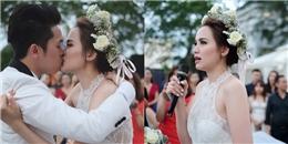 Diễm Hương bật khóc, ôm hôn ông xã trong ngày cưới