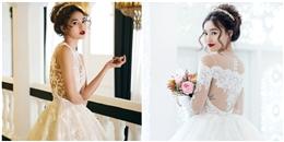 Lan Ngọc đẹp như thiên thần trong váy cưới trắng tinh