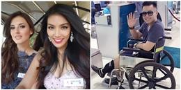 Lan Khuê lên bảng tin Miss World, Akira Phan bị thương vẫn đi diễn
