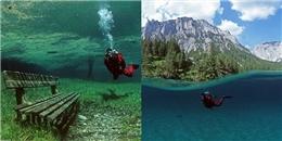 Tò mò với công viên đột nhiên biến thành hồ nước mỗi mùa hè