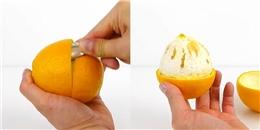 Bí quyết tách vỏ cam siêu dễ có thể bạn chưa biết