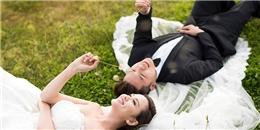 Mê mẩn bộ ảnh cưới long lanh của hoa hậu Diễm Hương