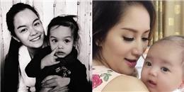 Con gái Phạm Quỳnh Anh... hôn trai lạ, con trai Khánh Thi 'nhí nhố'