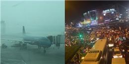 Mưa lớn kéo dài, hàng loạt chuyến bay bị hoãn