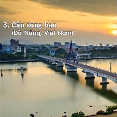 Cầu sông Hàn lọt  top  những cây cầu di động  độc  nhất thế giới