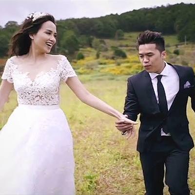 Rơi nước mắt với tâm sự của chồng Diễm Hương trong clip cưới
