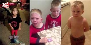 Cười ra nước mắt với phản ứng của con nít khi bị ăn hết kẹo