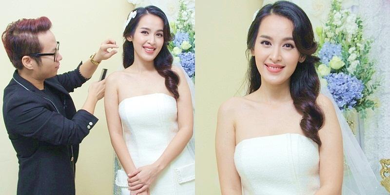 Cô dâu Tú Vi diện váy trắng cực xinh trong ngày trọng đại