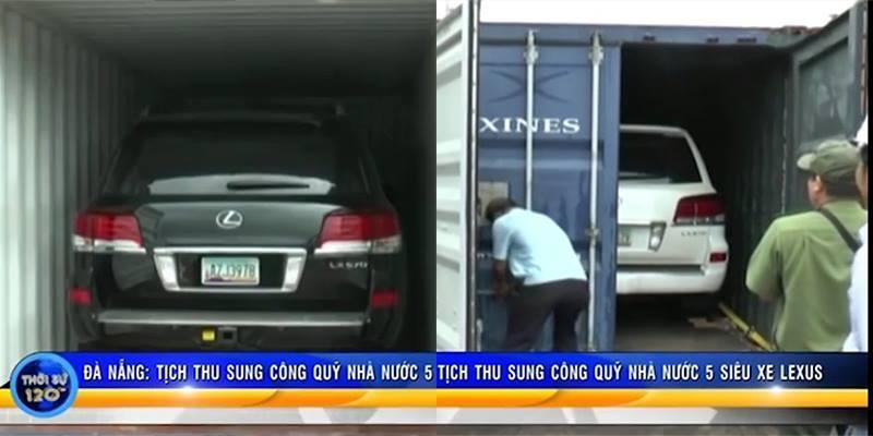 Sung công quỹ nhà nước 5 siêu xe Lexus của vụ án buôn lậu