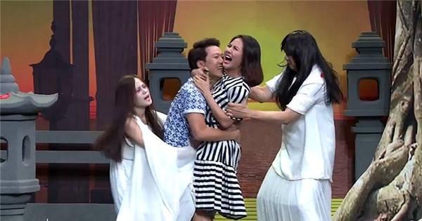 Vân Trang hẹn hò Trường Giang tại công viên khiến khán giả cười ngất
