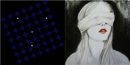 """Ảo ảnh thị giác mới khiến bạn lầm tưởng mắt mình bị """"mù"""""""