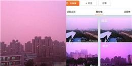 Hiện tượng kỳ lạ: Sương mù hồng bao phủ thành phố