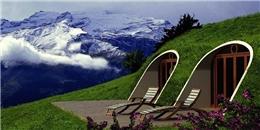 """""""Lác mắt"""" với căn nhà Hobbit xây dựng trong… 3 ngày"""