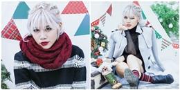 Yến Lê nhuộm tóc trắng như tuyết để đón Giáng sinh