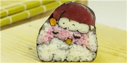 Cách cuộn sushi hình ông già Noel cho ngày giáng sinh