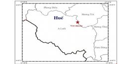 2 trận động đất nhẹ liên tiếp xảy ra ở Huế