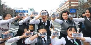 Học sinh Hàn biểu diễn  hit  mới của PSY giữa phố cực hoành tráng