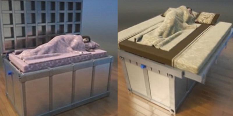 Ngạc nhiên trước chiếc giường giúp ngủ ngon lành dù động đất xảy ra