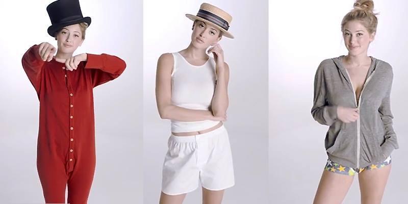 Khi người mẫu nữ tái hiện lịch sử... đồ lót nam