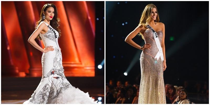 Những bộ váy lộng lẫy nhất đêm bán kết Hoa hậu Hoàn vũ 2015