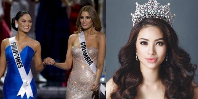 Nhầm lẫn ngôi Hoa hậu Hoàn vũ, Phạm Hương 'thoát' búa rìu dư luận