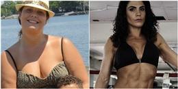 Khâm phục bà mẹ béo phì trở thành vận động viên thể hình