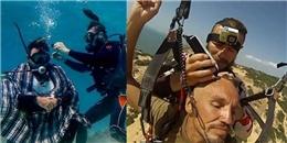 Kinh ngạc trước anh thợ cắt tóc dạo bất chấp trên trời - dưới biển