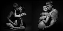 Vũ Duy Khánh hạnh phúc ôm hôn bụng bầu của vợ