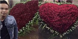 'Soái ca' Hưng Yên gây sốt khi tỏ tình bằng lẵng hoa nghìn bông