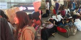 Không cho đổi vé tàu Tết, hành khách bật khóc bất lực
